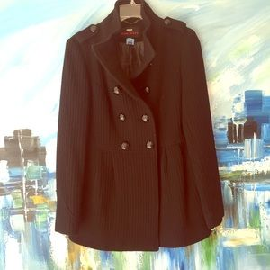 Miss Sixty Military Double Breasted Black Pea Coat